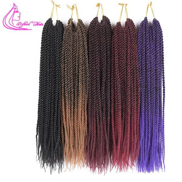 Brand Name: Refined HairColor Type: OmbreCan Be Permed: NoTexture: Senegalese TwistMaterial Grade: KanekalonItems per Package: 30strands/pack