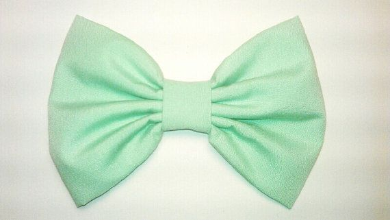 teen hair bows | great mint green bow for the summer :)