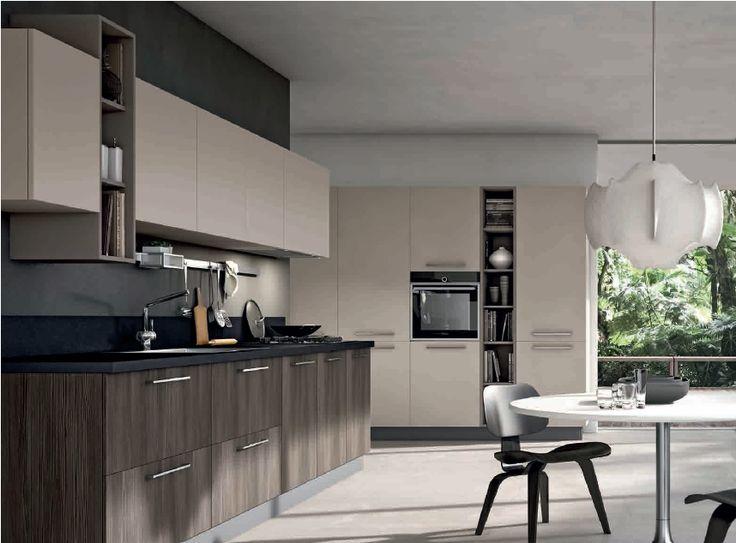 Stosa replay next cucina con maniglia bridge opzionale - Cucine grigio perla ...