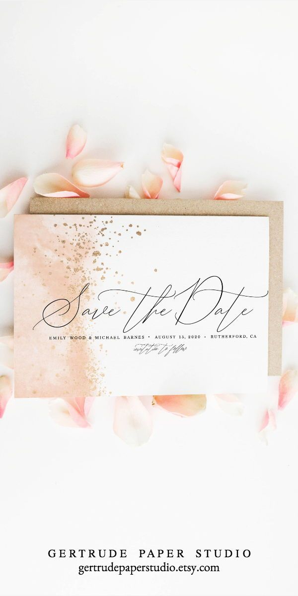 Pink Watercolor Save The Date Instant Download Printable Etsy Wedding Invitations Diy Diy Wedding Decorations Diy Wedding Invitations Templates