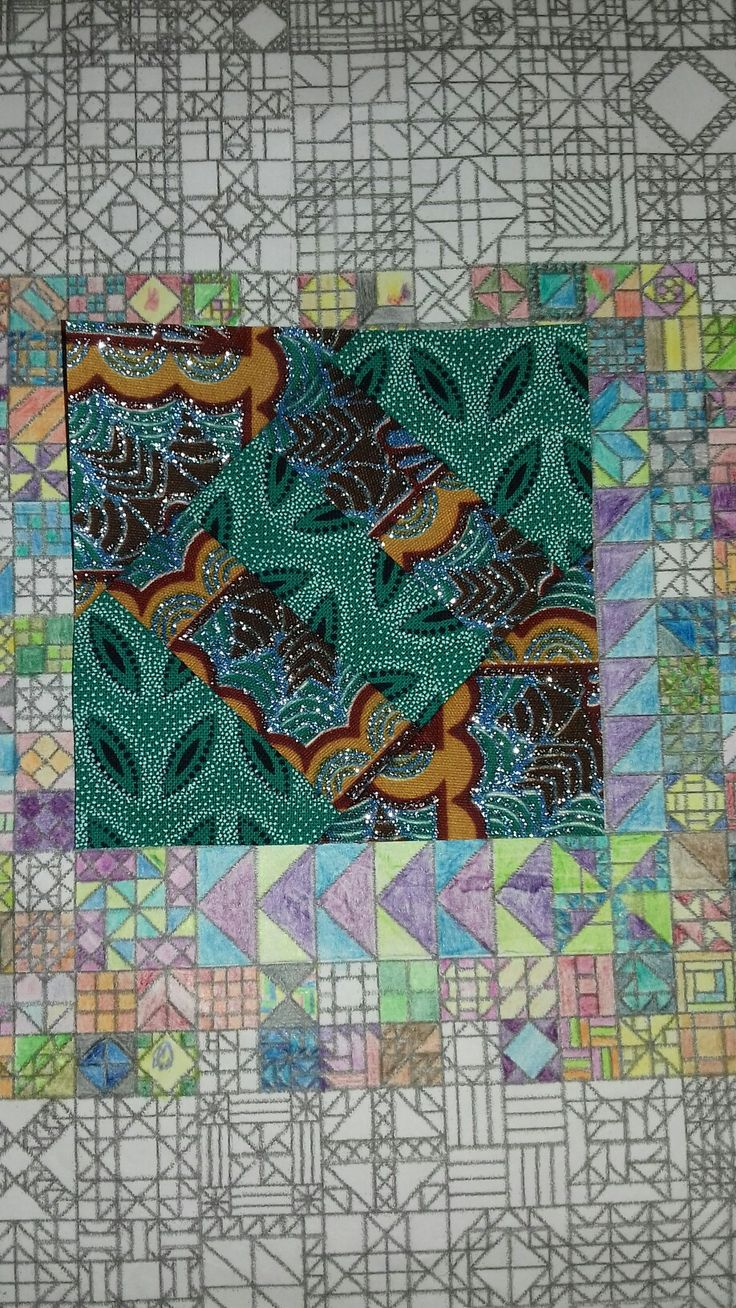 April 9 - Cracker see us returning to more african fabrics for some blocks #365 #KathyKerr