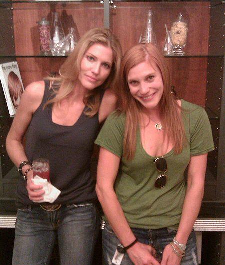 Number 6 & Starbuck, aka Tricia Helfer & Katee Sackoff; Acting Outlaw buddies