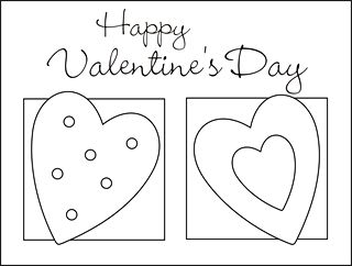Valentine Coloring Cards Free Printable Valentine Cards For Kids Classroom Valentine Exchange Cards Valentine Colorin Free Squishy Cute Crafts