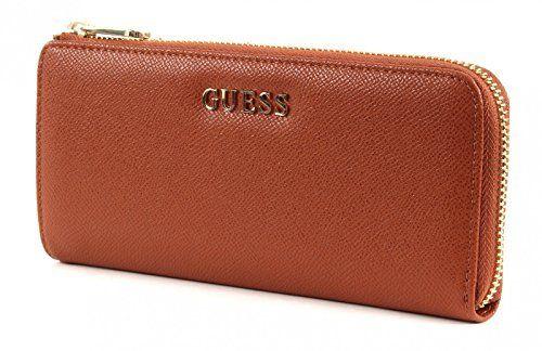 GUESS, Damen Geldbörsen, Börsen, Portemonnaies, Brieftaschen, Cognac, 19,5 x 9 x 2,5 cm (B x H x T)