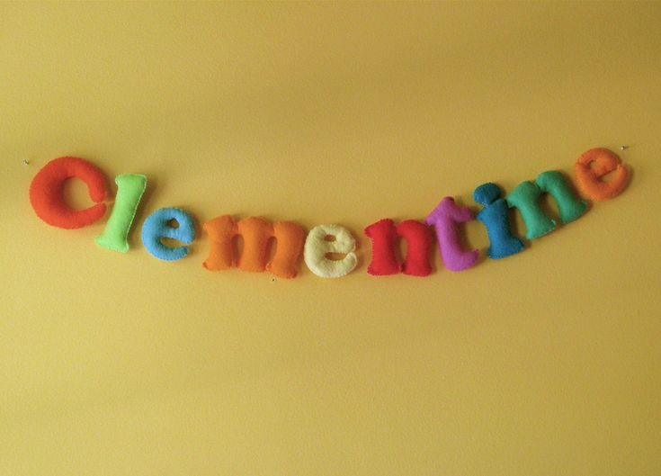 Yesterday I finished these felt letters for Clementine's nursery. They had been sewn and stuffed months ago but I had this idea that they would all hang individually from the tension wire that holds up her curtains and then when I tried it and realized they would spin around and half of the letters wouldRead more...