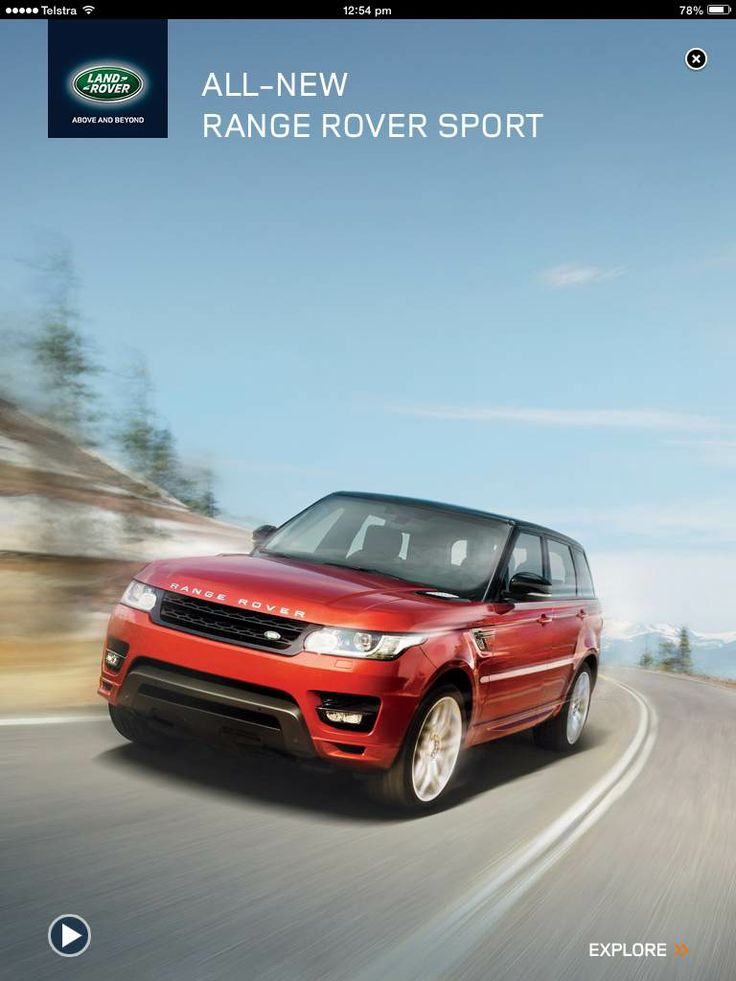 Range Rover Sport Full Page - click to show video (on launch)