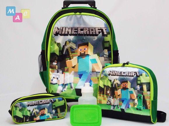 códigos de cupón comprar más nuevo original mejor calificado Kit Mochila Minecraft De Rodinhas | Mochila minecraft, Kit ...