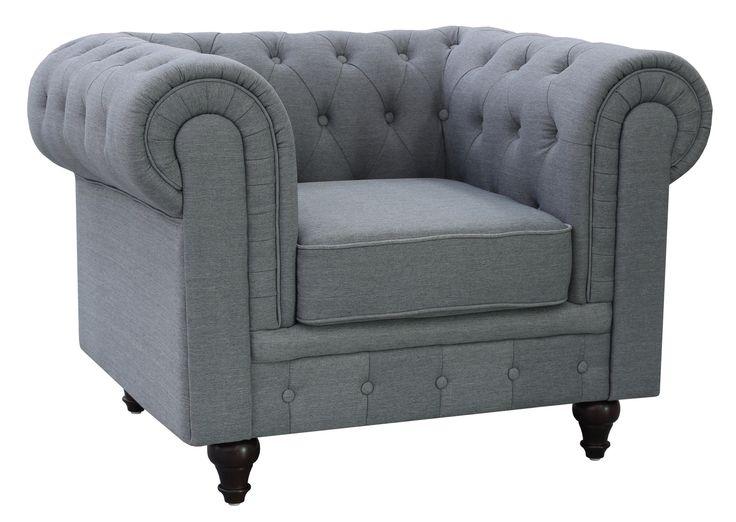 Grace Linen Fabric Chesterfield Sofa