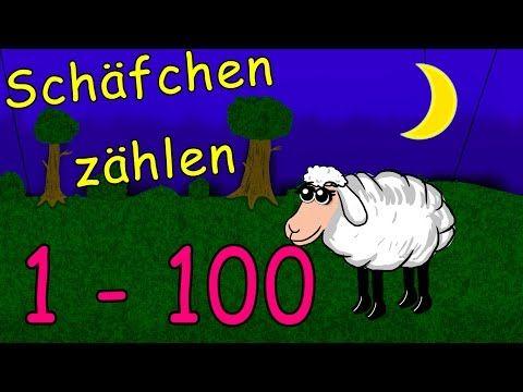 Schafe zahlen zum einschlafen und lernen 1-100 - skłamał Deutsch lernen zahlen