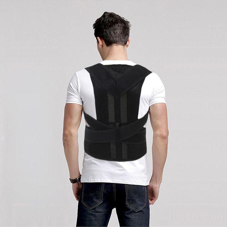 Aofeite Unisex Adjustable Back Posture Corrector Brace Back Shoulder Support Belt Posture Correction Belt for Men Women S-XXL
