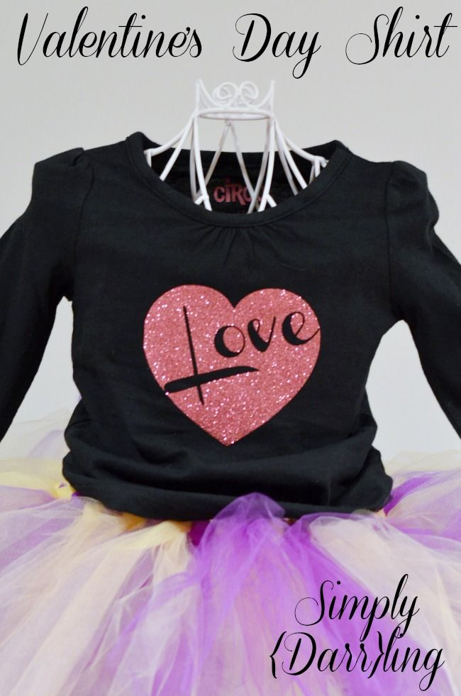A Kid's Valentines Day Shirt - spread some love this Valentines Day with a fun kids tee. Made using my Silhouette Cameo and heat transfer vinyl.