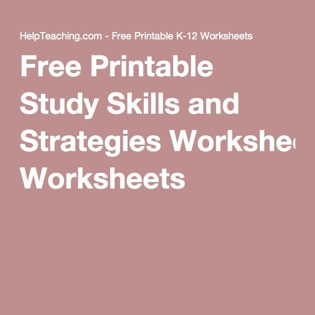 Printables Study Skills Worksheets For Middle School 1000 ideas about study skills on pinterest tips free printable and strategies worksheets