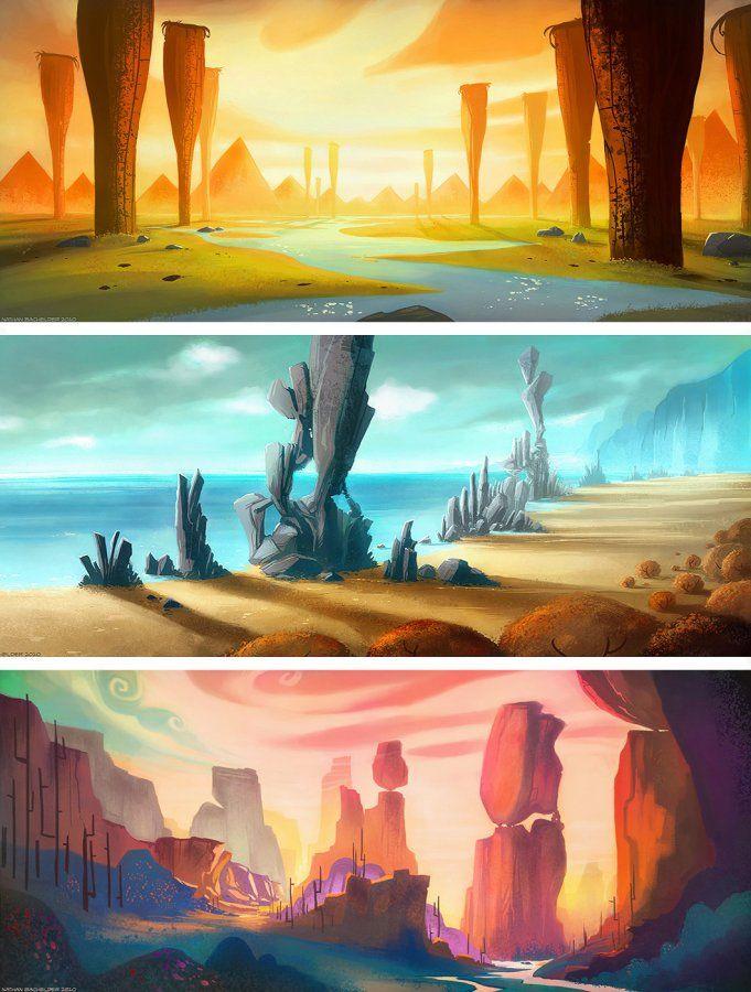 Amazing #landscape #illustrations