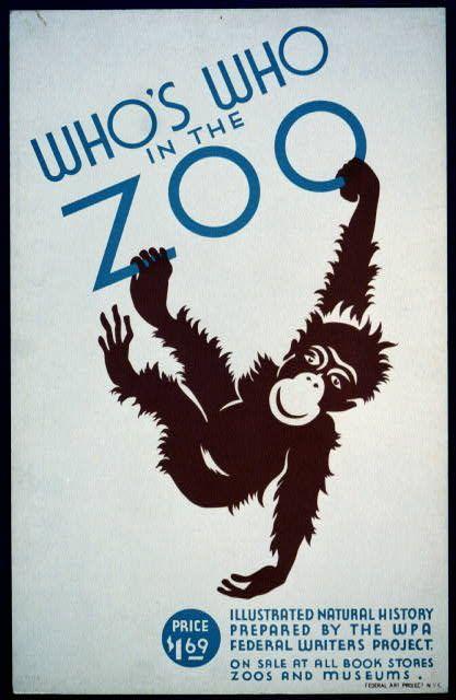 Brookfield zoo ad (monkey)