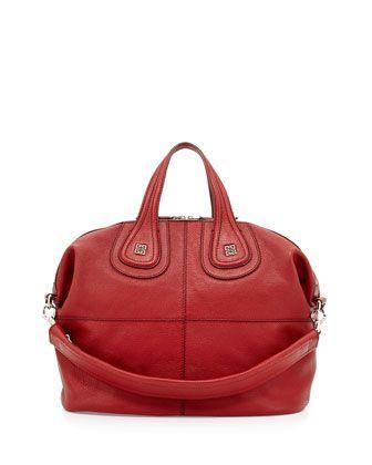 Nightingale Medium Sugar Satchel Bag, Red by Givenchy at Bergdorf Goodman.