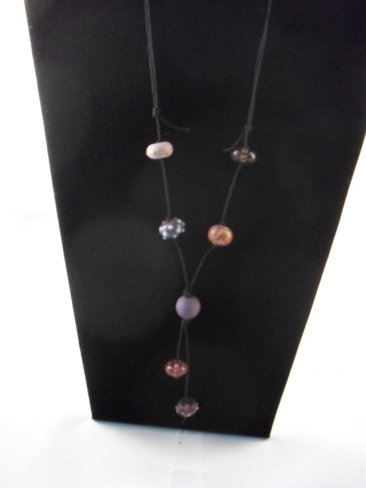 Prefectly purple and pink handmade beads