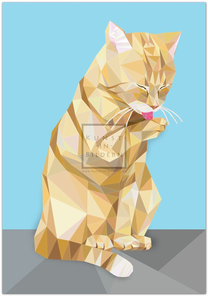 Europäisch Kurzhaar by Moitao. #katze #cat #katzen #cats #kunst #art #digital #illustration #europäischkurzhaar #europeanshorthair | http://www.kunst-in-bildern.de/bildergalerie/europaeisch-kurzhaar