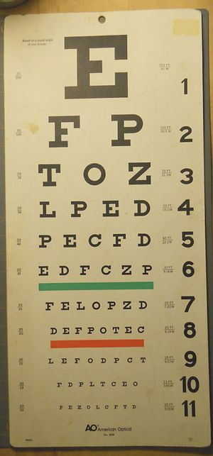 Paper Eye Chart