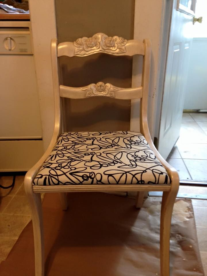 Cream Fabric Dining Chairs