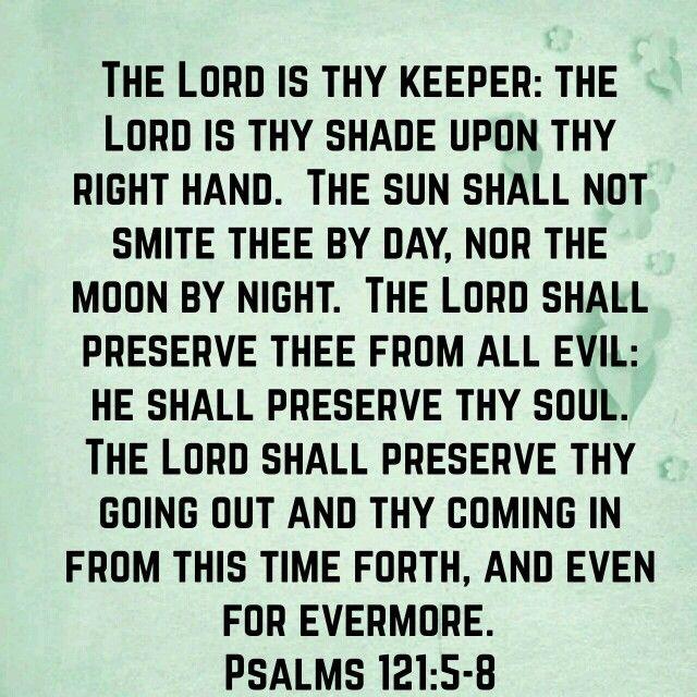Psalms 121:5-8 (KJV)