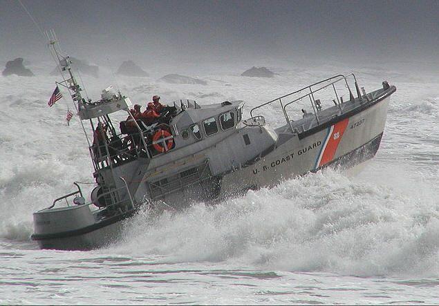 US Coast Guard surf boat, Tillamook Boat Station, Garibaldi, Oregon