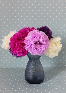 Blomster af silkepapir