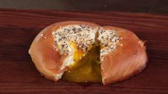 Everything Egg in a Bagel Hole | MyRecipes