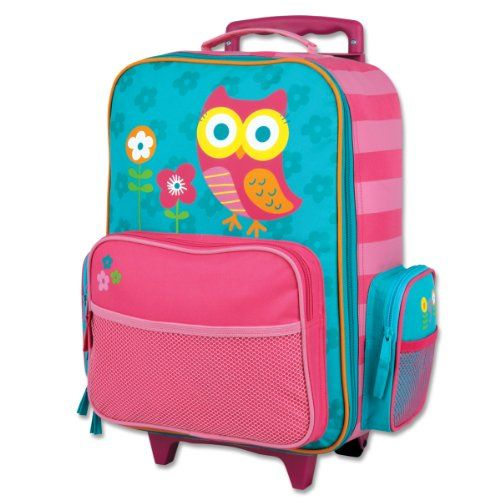 Stephen Joseph Little Girls' Rolling Luggage. Love the owl. Visiti http://www.webnuggetz.com/kids-rolling-backpack/ for more cute selections.