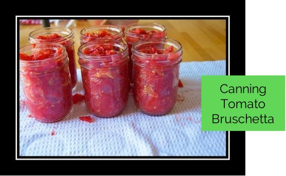 We are going to make bruschetta topping and we are going to preserve the freshness through good old canning. So here we go.