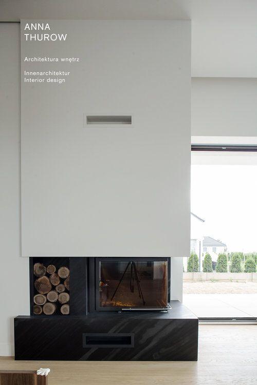 modern stone  black fireplaces ideas nowoczesny kamienny czarny kominek designed by: annathurow.pl