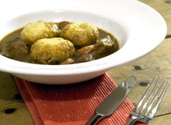 British beef stew and dumplings