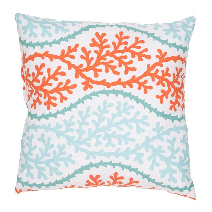 Coral Trellis Splendor Pillow Make up, Decks and Trellis pattern