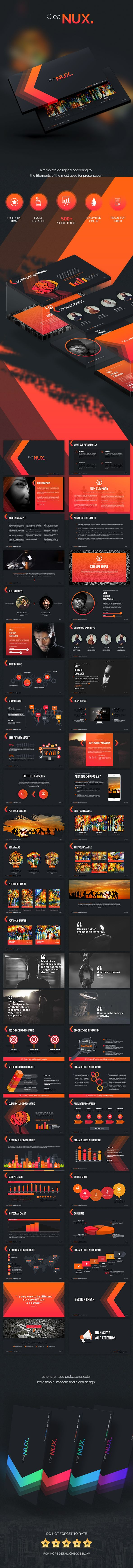 Cleanux - Powerpoint Presentation Template
