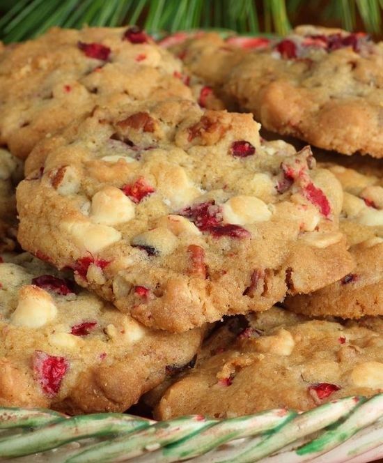 White Chocolate and Cranberry Cookies. These cookies are delicious!