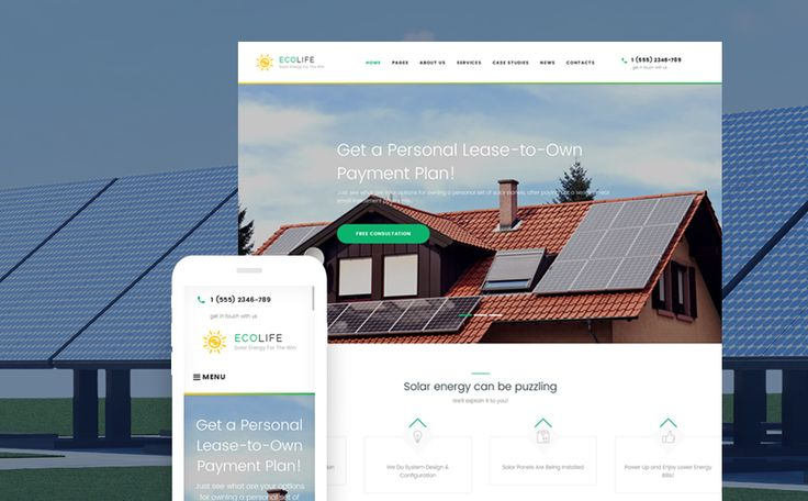 Best 12 Environmental & Clean Energy WordPress Themes (Solar, Wind and Recycling) - Eco Life (theme for your WordPress site) Item Picture