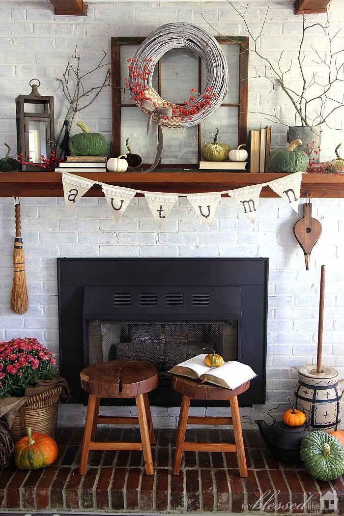 Natural Fall Mantel 98 best Decor MANTEL