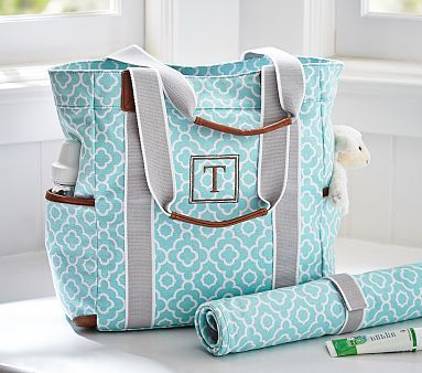 Aqua Geo Harper Tote . Oh pottery barn, you will be the death of me!