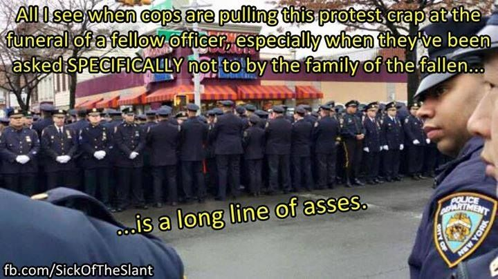 #NYPD #BlackLivesMatter - This pretty much sums it up.