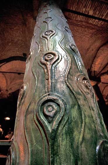 Engraved Pillar, Basilica Cistern, Istanbul