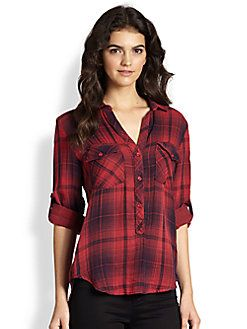 93 best red inspiration images on pinterest lady in red for Bella dahl plaid shirt