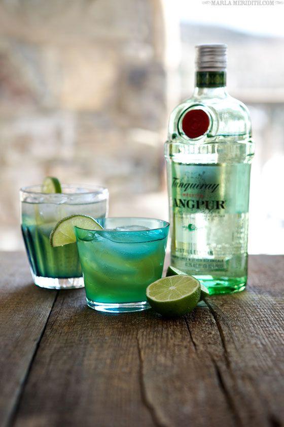 Green Tea Gimlet Cocktail | FamilyFreshCoooking.com