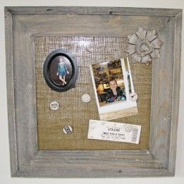 Magnetic Burlap Bulletin Board Craft Tutorial