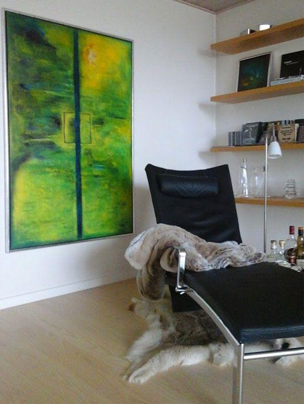 Maleri: Fokus på afslapning ... Der mangler bare en kop kaffe, god musik eller måske et glas Whisky