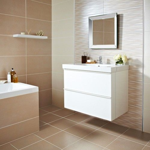 Image Of Galant Cream Large tiles general cover for bathroom walls