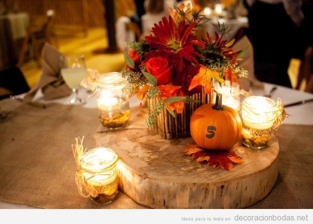 17 mejores ideas sobre centros de mesa oto ales en - Decoracion de otono ...