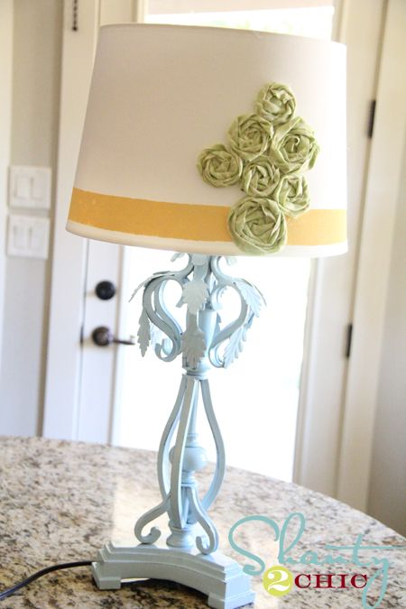 cute, easy lamp redo... Still in  love with the idea of an old lamp turned into something great..