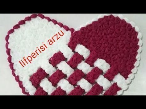 Kalp Modeli Hasır Lif Yapılışı Anlatımlı Türkçe Videolu