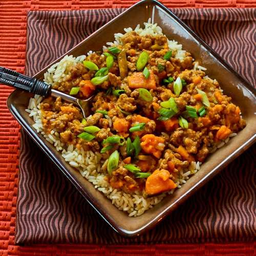 Sweet and Spicy Ground Turkey and Sweet Potato Stew with Coconut Milk: Crock Pots Recipes, Slow Cooker Recipes, Crockpot Recipes, Coconut Milk Recipes, Sweet Potatoes, Potatoes Stew, Ground Turkey, Crock Pot Recipes, Spicy Ground