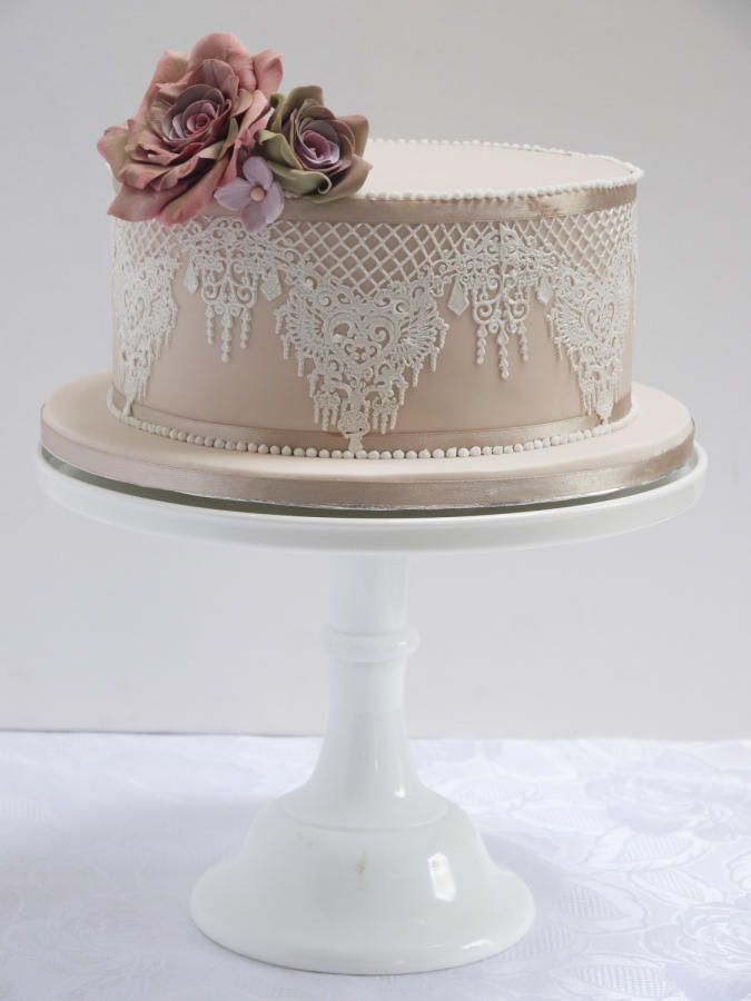 Jean Wedding Cake - Cake by Michelle Keel