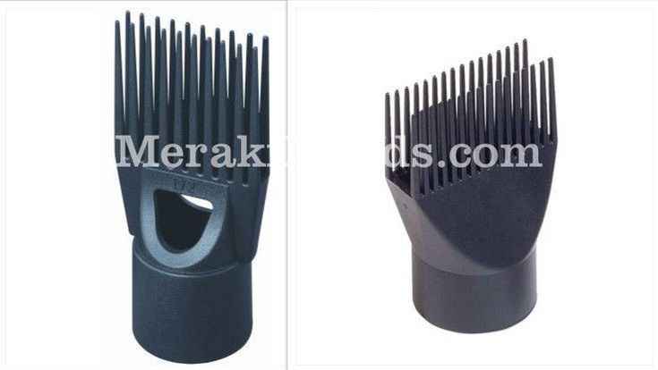 2x Pik Comb Attachments Afro Euro Asian Long & Short Hair dryer Straightener Set